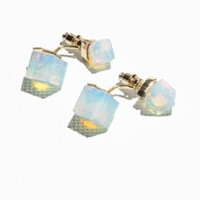 & Other Stories | Diamond Drop Back Earrings | Transparent