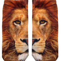 Lion Ankle Socks