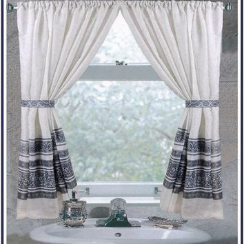 Fleur Fabric Bathroom Window Curtain - 3 Colors