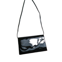 A011 80s VINTAGE Patent Cross-Body Bag
