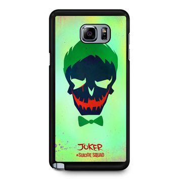 Joker Poster Suicide Squad Samsung Galaxy Note 5 Case