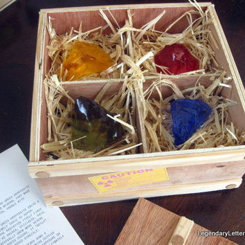 Superman Handmade Green, Red, Yellow, & Blue Kryptonite in Crate Replica Prop