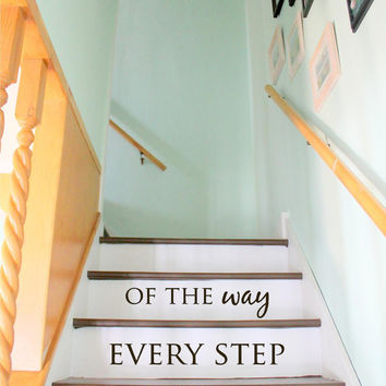 Stair Decal Stairs Decal I love you every step of the way Staircase ideas decor