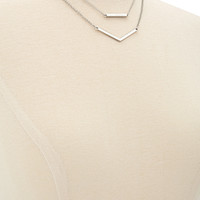 Plated Geo Layered Necklace