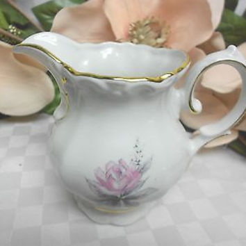 Royal M Bavaria China Dinnerware Bridal Rose Pattern # RMY1 Creamer