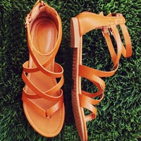 Jeta Gladiator Sandals - Tan