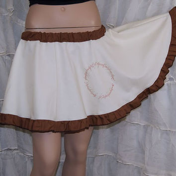 Lord of the Rings One Ring Elvish Inscription Circle Skirt Adult ALL Sizes - MTCoffinz