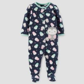 Baby Girls' Owls Fleece Sleep N' Play - Just One You™ Made by Carter's® Navy