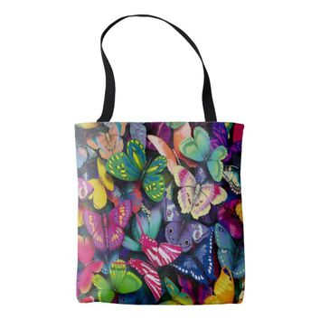 Butterflies All-Over-Print Tote Bag