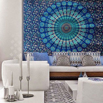 Mandala Tapestry, Mandala wall tapestry, Floral tapestry, bohemian spiritual, Mandala Tapestry Wall hanging, Hippie Tapestry, Decor - S63