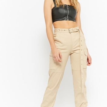 Belted Cargo Joggers