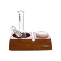 All-in-One Set by Purr Glass - Mini Beaker Dab Rig, Nail, Dome, & Stand - Assorted Colors