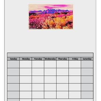 Colorful Colorado Mountains Blank Calendar Dry Erase Board by TooLoud