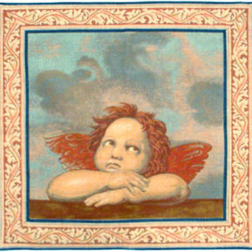 Raphaels Angel Right Panel Tapestry Wall Art Hanging