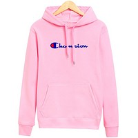 Champion new hooded autumn and winter men's sweater Pink