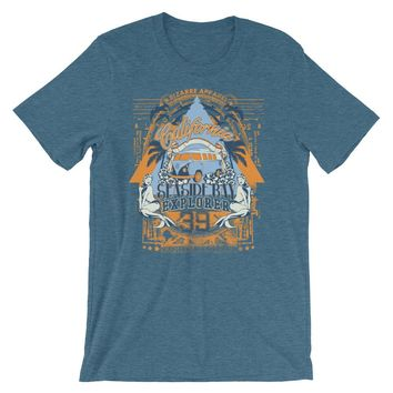 California Seaside Bay Explorer Short-Sleeve Unisex T-Shirt