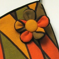 Mod Orange Harlequin Holiday StockingHave a groovy by MadAboutMod
