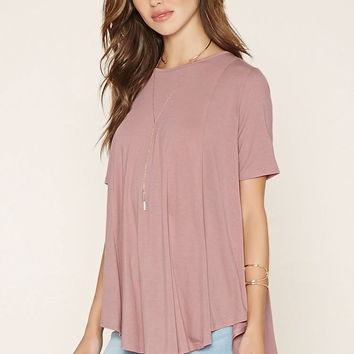Curved-Hem Trapeze Top