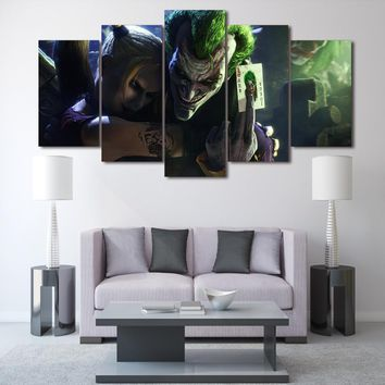 Joker Batman Movie 5 panel piece wall art canvas panel picture print