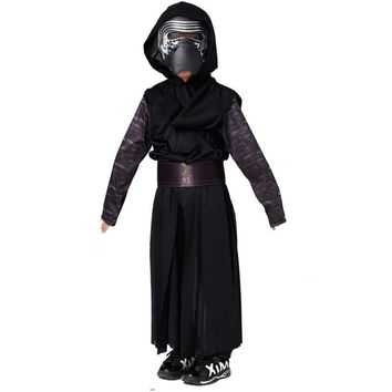 Star Wars Force Episode 1 2 3 4 5 New Arrival Boys Deluxe  The Force Awakens Kylo Ren Classic Cosplay Clothing Kids Halloween Movie Costume for children AT_72_6