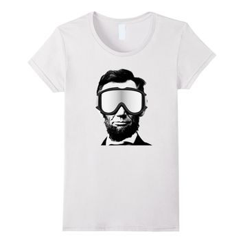 Abraham Lincoln T-Shirt Funny Snowboarding President's Day