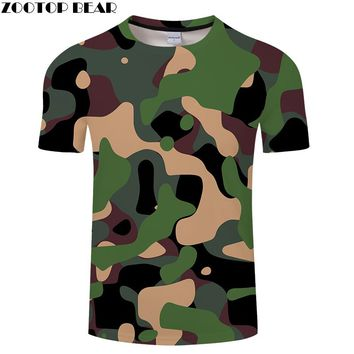 2018 Full Range Color Military Camouflage Men t shirt 3D Printed, Summer Sports Couple Style Tee,Short-Sleeve Mens Sexy tshirts