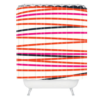 Khristian A Howell Crew Stripe Warm Shower Curtain