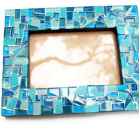 Teal Mosaic Picture Frame, 4 x 6