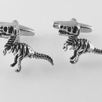 Dinosaur Cufflinks, T-Rex Cufflinks, Wedding Cuff Links, Father's Day Cuff Links, Graduation Gift