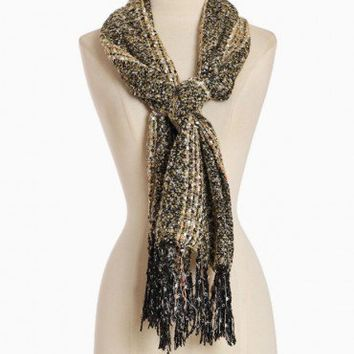 picturesque pieces knitted fringe scarf at ShopRuche.com