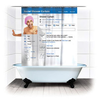 Social Shower Curtain			| IWOOT