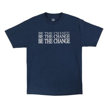 Be The Change navy tee by Altru Apparel