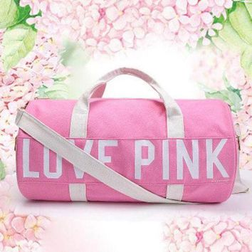 ONETOW Love Pink Victoria's Secret Print Sport Gym Satchel Travel Luggage Bag