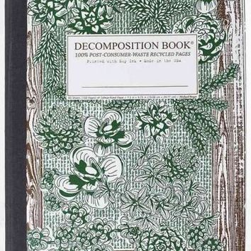 Succulent Garden Decomposition Book: College-ruled Composition Notebook With 100% Post-consumer-waste Recycled Pages