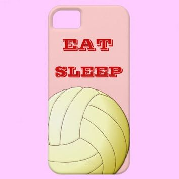 EAT SLEEP  VOLLEYBALL iPhone 5 Case from Zazzle.com