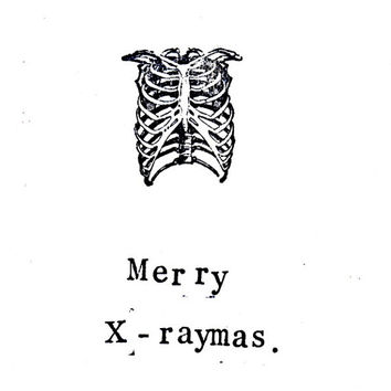 Anatomy X-ray Skeleton Christmas Card - Set of 5