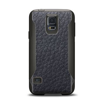 The Black Leather Samsung Galaxy S5 Otterbox Commuter Case Skin Set
