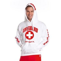 Official Guys White Lifeguard Hoodie - Walmart.com