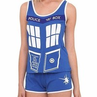 Doctor Who Tardis Police Box Her Universe Junior Sleep Set