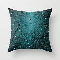 Silently, One by One, the Infinite Stars Blossomed (Geometric Stars Remix) Throw Pillow by Soaring Anchor Designs