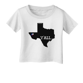 Texas State Y'all Design with Flag Heart Infant T-Shirt by TooLoud