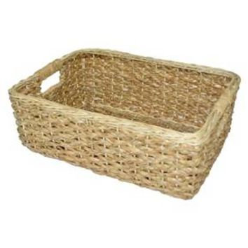 Short Seagrass Rectangular Wicker Storage Basket - Threshold™ : Target