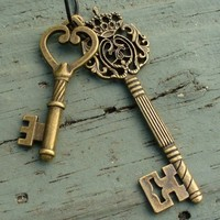 Steampunk Cute KEY to your heart Necklace | umbrellalaboratory - Jewelry on ArtFire
