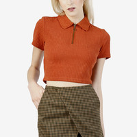 Iggy Zip Front Top - Rust