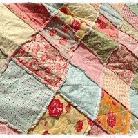 Rag Quilt - King Size - Marmalade by Bonnie and Camille Handmade Modern Shabby Bedding