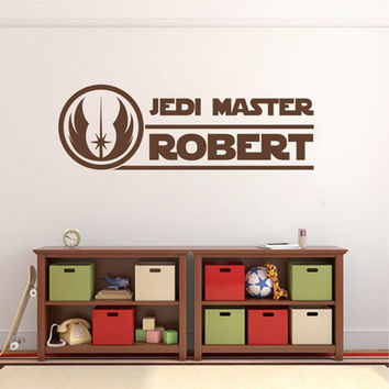 kik2205 Wall Decal Sticker for the name Jedi Master Star Wars children's room living room