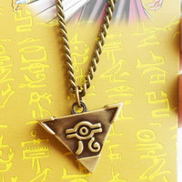 Yu-Gi-Oh Metal Necklace Bronze Color Anime Yugioh Millenium Pendant Jewelry Toy Yu Gi Oh Cosplay Costume Gift