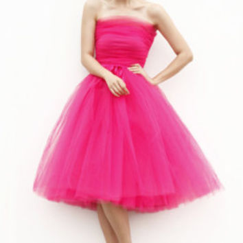 Tulle Skirt Short Tutu Skirt Elastic Waist tulle tutu Princess Skirt Wedding Skirt in Roes Red - NC508
