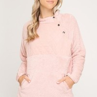Fleece Pullover - Rose