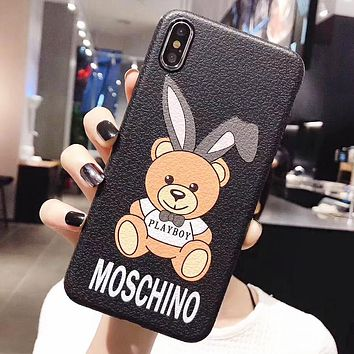 Moschino New fashion letter more bear print couple protective case phone case